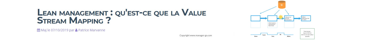 Lean management : qu'est-ce que la Value Stream Mapping ?